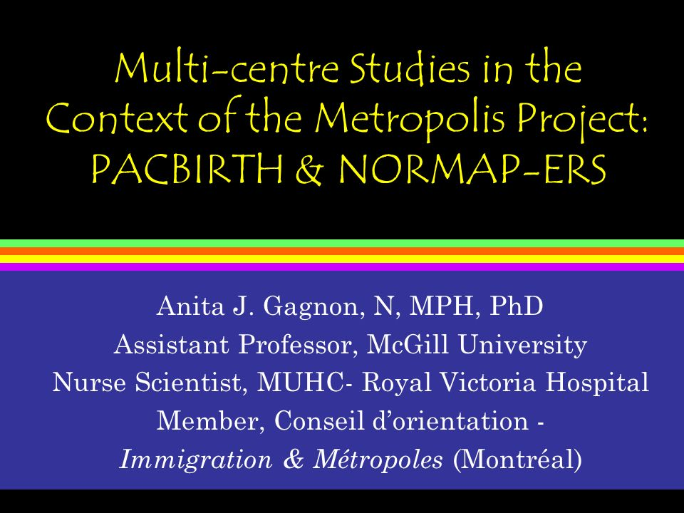 A multi-centre Metropolis study in the feasibility phase: PACBIRTH -IV Sampling procedures/participants: 100 refugee, 25 non-refugee immigrant, 25 Canadian-born women will be recruited on hospital postpartum units in Montreal Questionnaires will be administered in hospital and at two weeks and 4 months post- birth data management centre via dedicated fax and computer