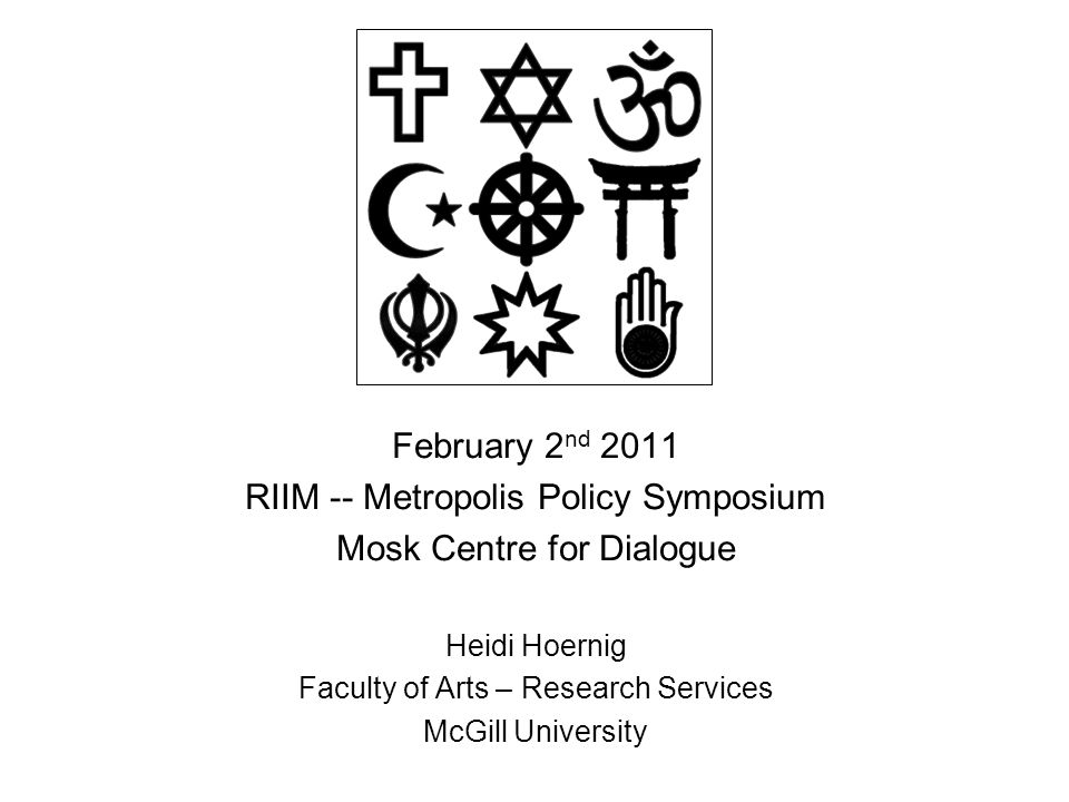 Religious diversity & the public domain 1.Why does religious diversity matter to public policy and public institutions.