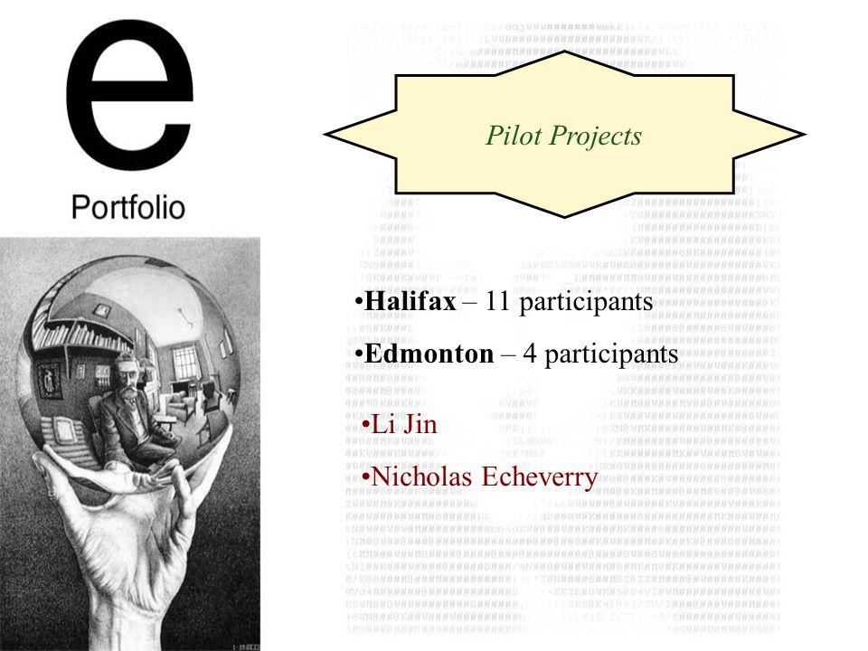 Pilot Projects Halifax – 11 participants Edmonton – 4 participants Li Jin Nicholas Echeverry