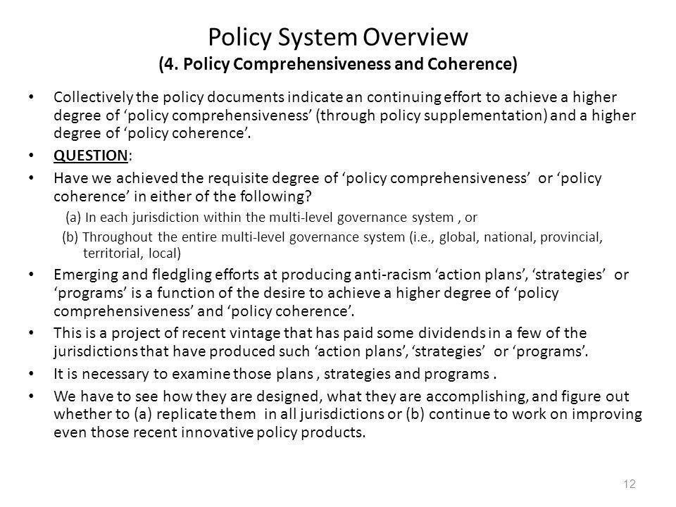 Policy System Overview (4.