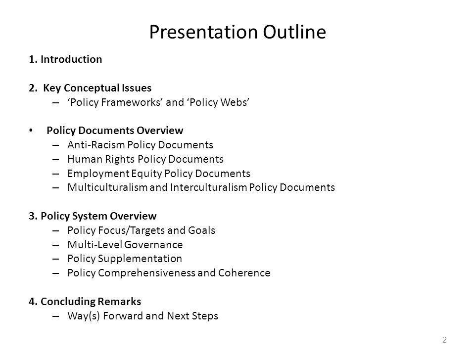 Presentation Outline 1. Introduction 2.