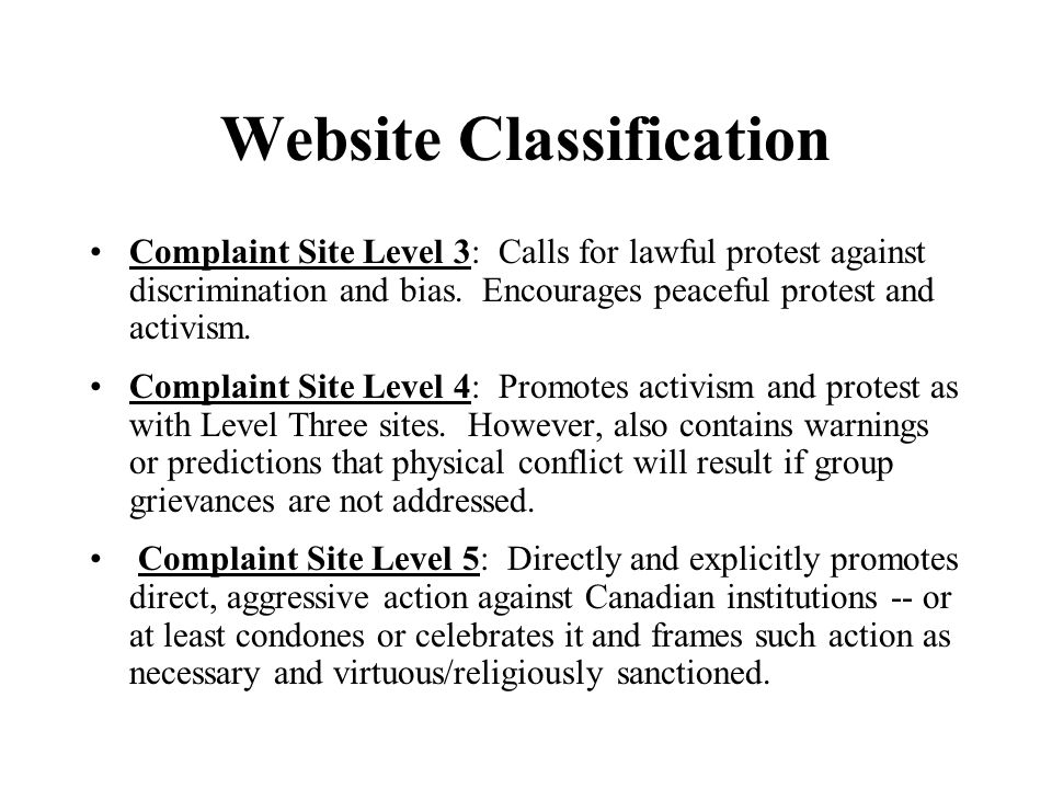 Website Classification Complaint Site Level 3: Calls for lawful protest against discrimination and bias.