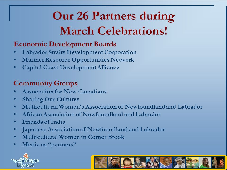 Our 26 Partners during March Celebrations.