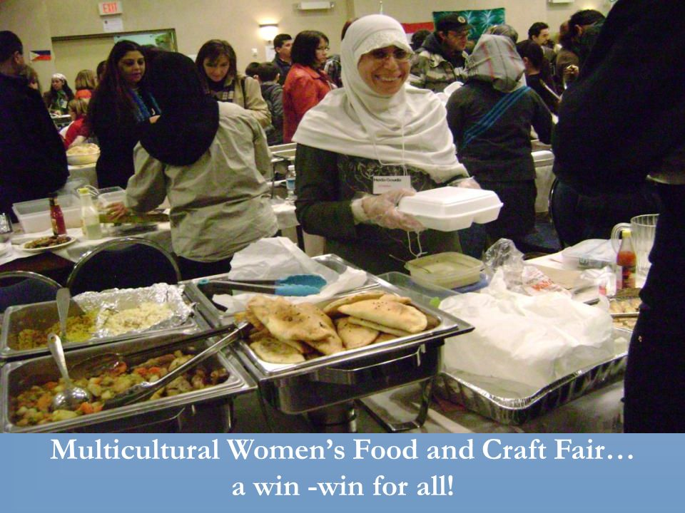 Multicultural Womens Food and Craft Fair… a win -win for all!