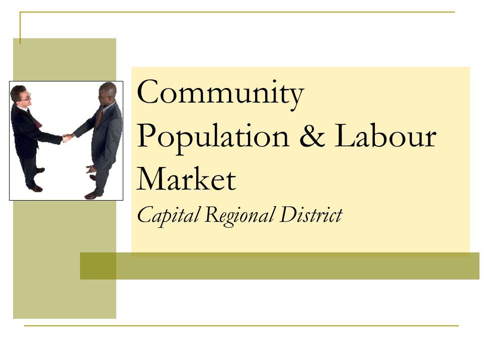 Community Population & Labour Market Capital Regional District