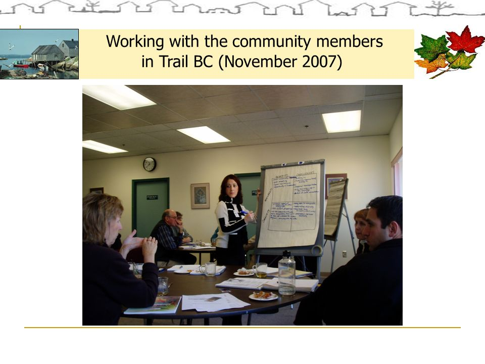 Working with the community members in Trail BC (November 2007)