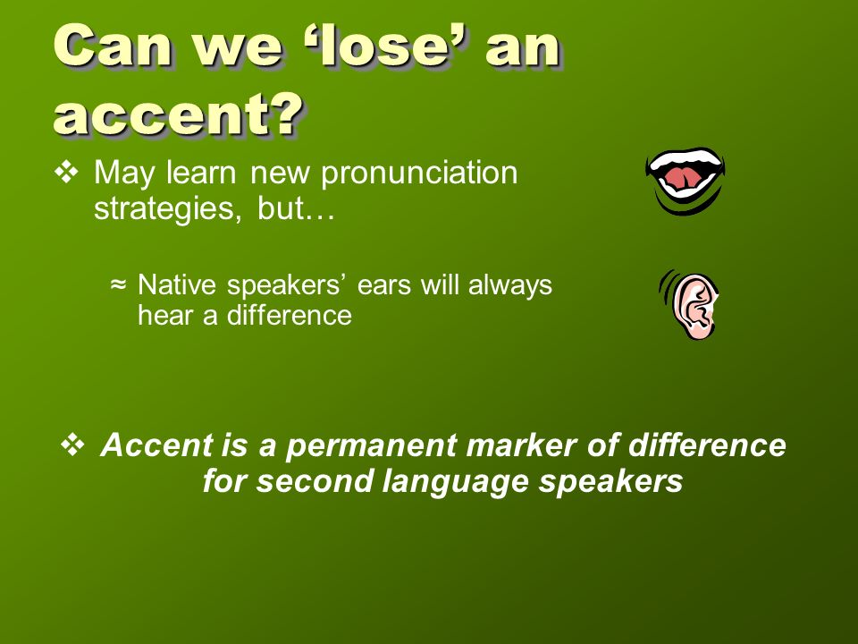 Results Correlation of concern with accent and importance of speaking