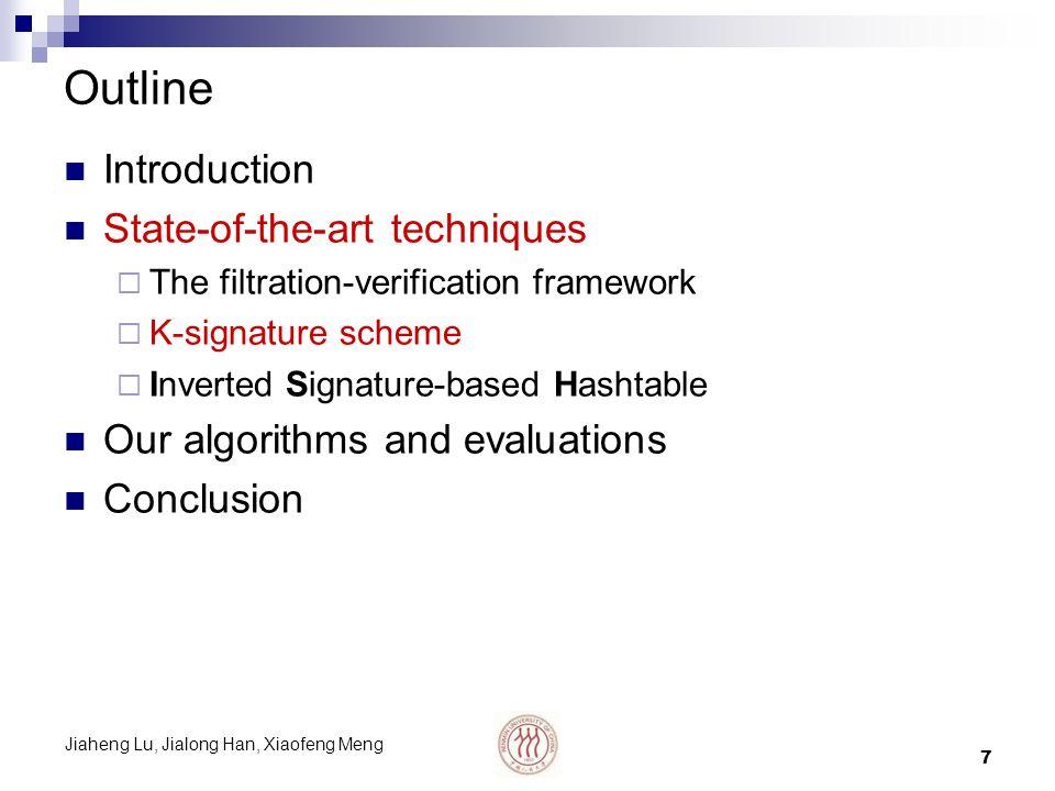 Jiaheng Lu, Jialong Han, Xiaofeng Meng 8 K-signature scheme Proposed by Chakrabarti et al.