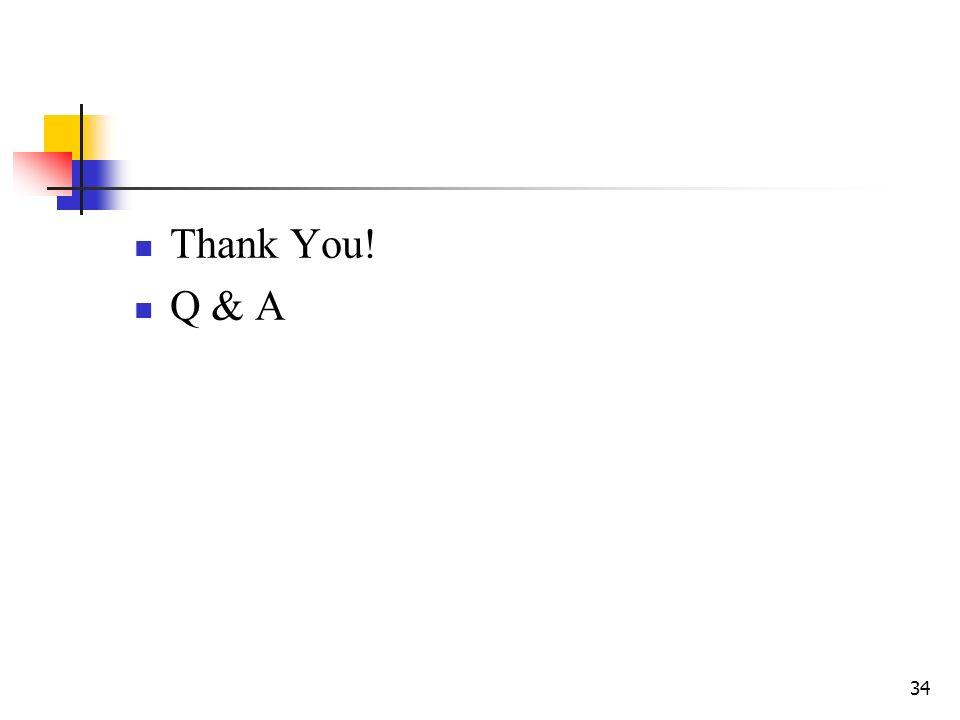 34 Thank You! Q & A