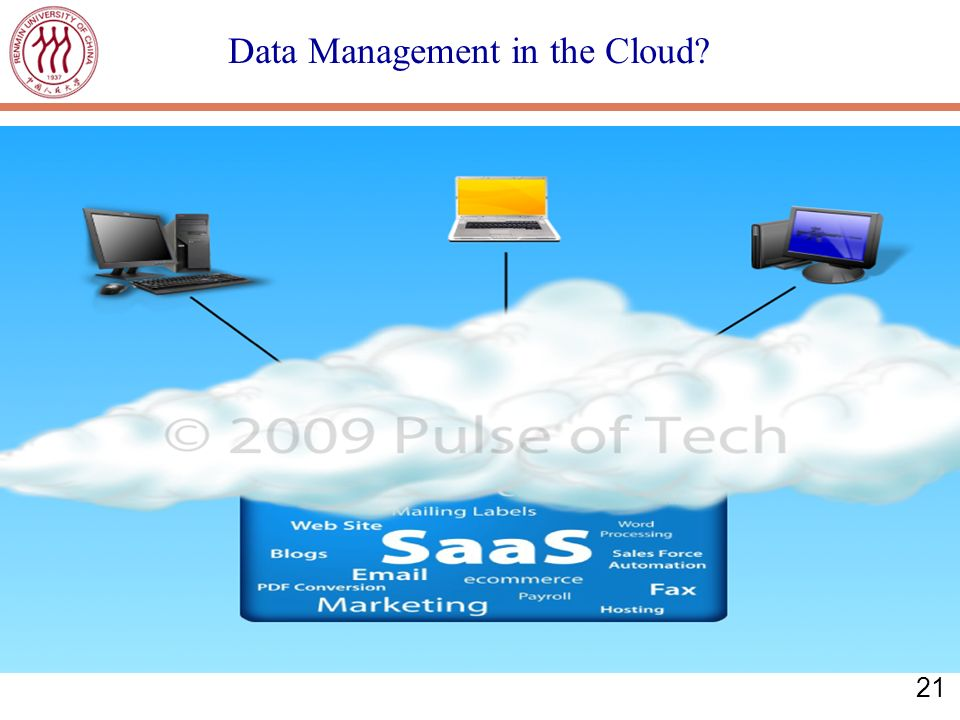 21 Data Management in the Cloud?