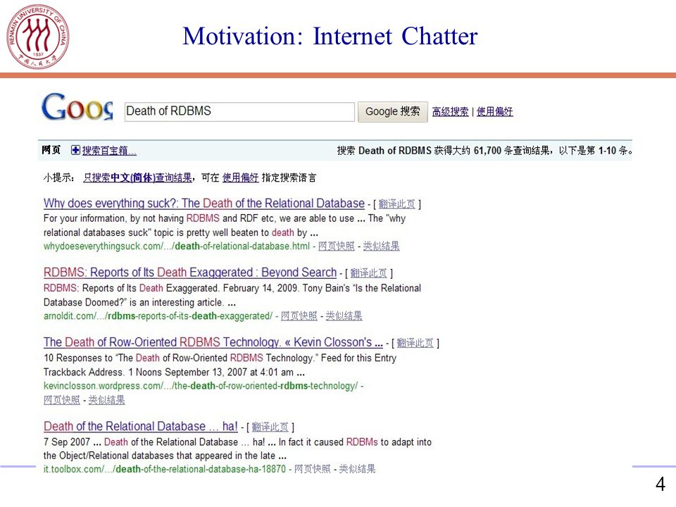 4 Motivation: Internet Chatter