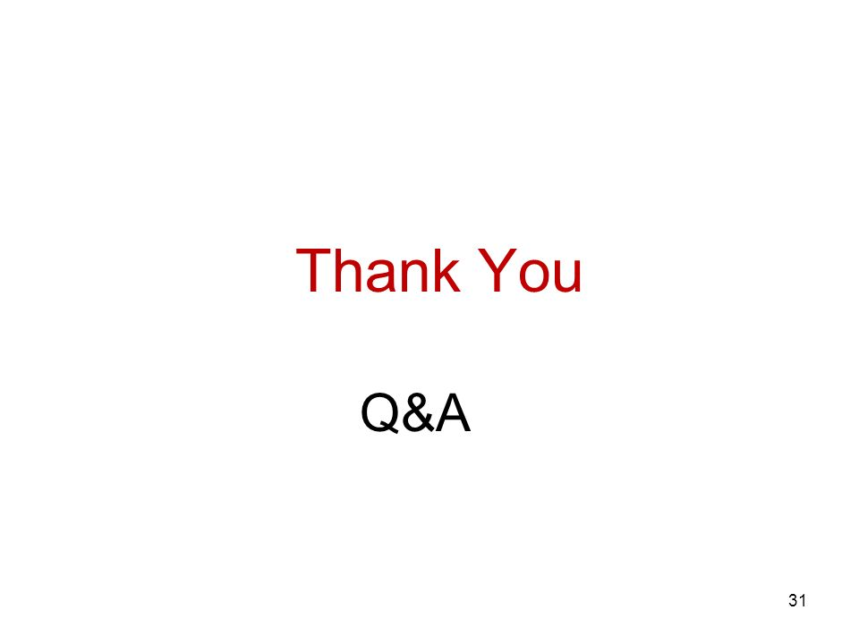 Q&A Thank You 31