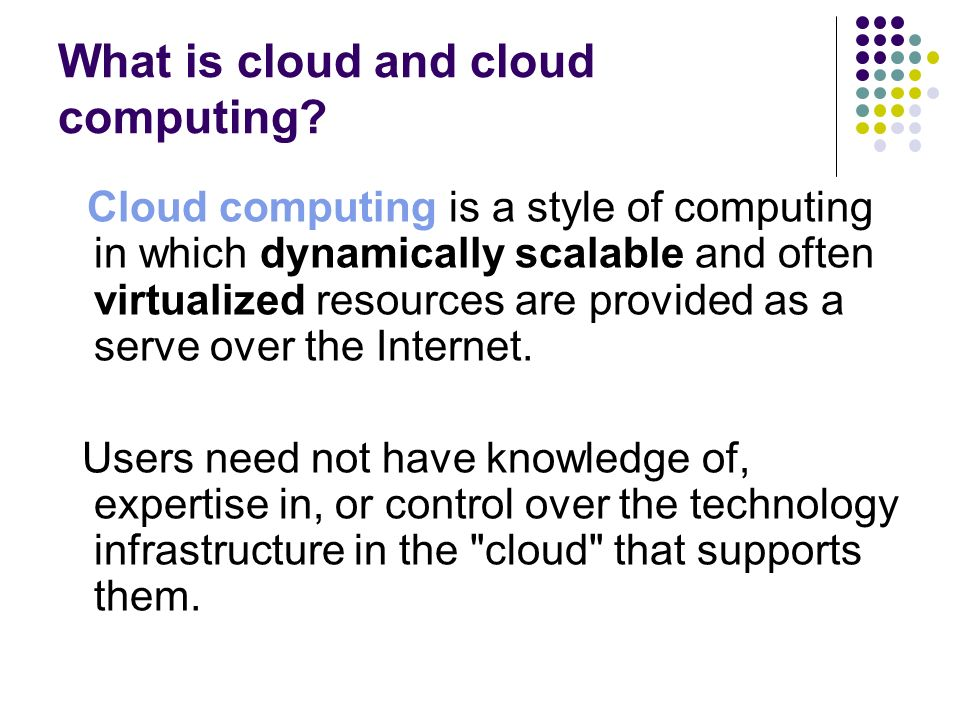 Characteristics of cloud computing Virtual.