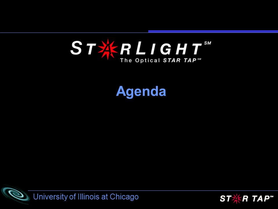 University of Illinois at Chicago Agenda