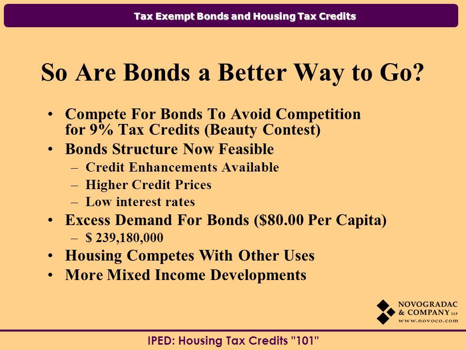 Tax Exempt Bonds and Housing Tax Credits IPED: Housing Tax Credits 101 Contact Information: Dan Smith Novogradac & Company LLP 303 W.