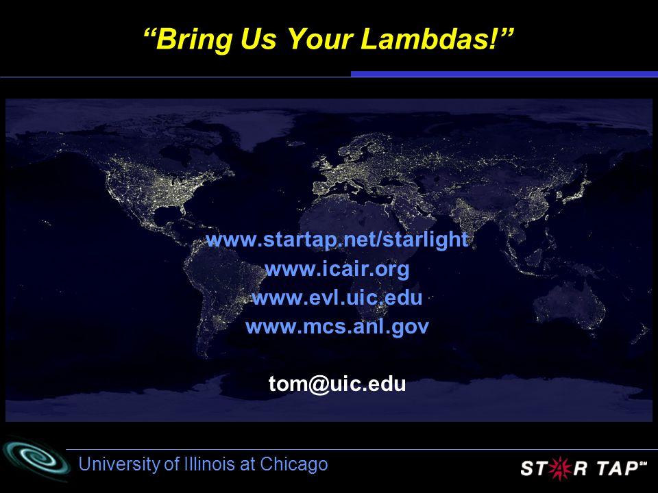 University of Illinois at Chicago Bring Us Your Lambdas.