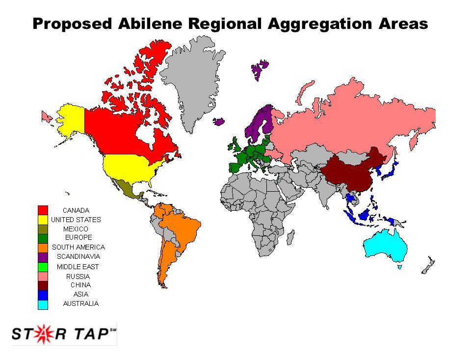 Proposed Abilene Regional Aggregation Areas