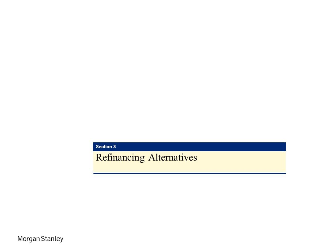 IPED Section 3 Refinancing Alternatives