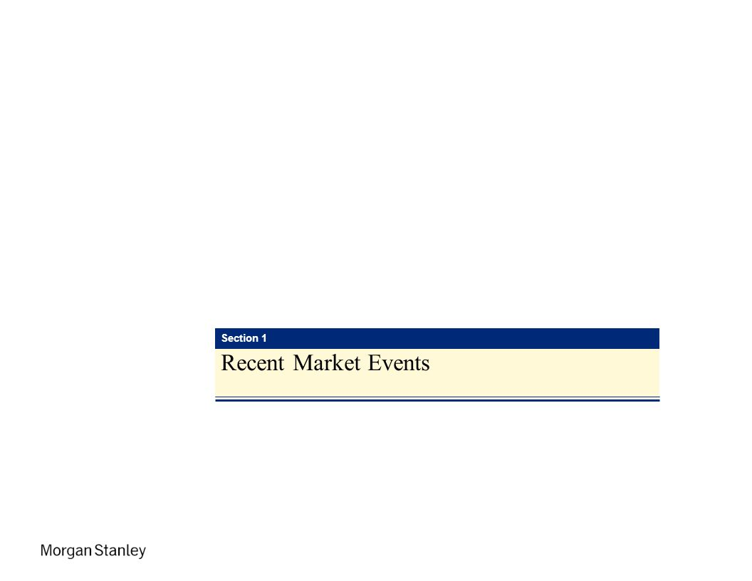 IPED Section 1 Recent Market Events
