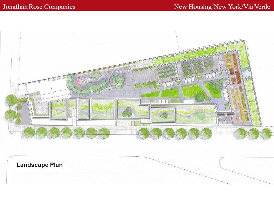 Landscape Plan Jonathan Rose Companies New Housing New York/Via Verde