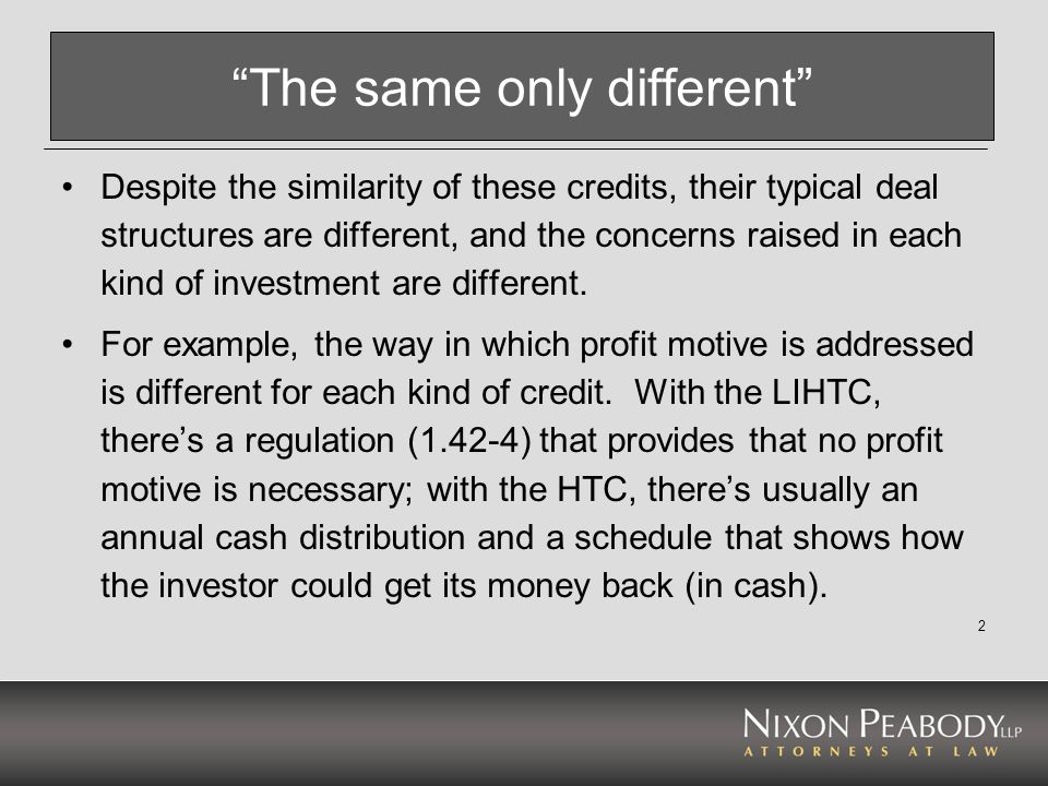 3 Fundamentals of the LIHTC - 1 LIHTC has two rates – 9% (new or rehab w/o tax-exempt bonds) and 3-4% (purchase of existing building, bond-financed, or both) The credit based on qualified basis in a housing project.