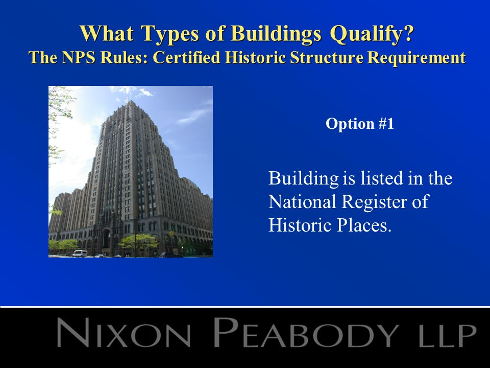 What Types of Buildings Qualify.