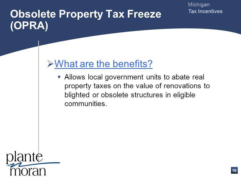 Michigan Tax Incentives 15