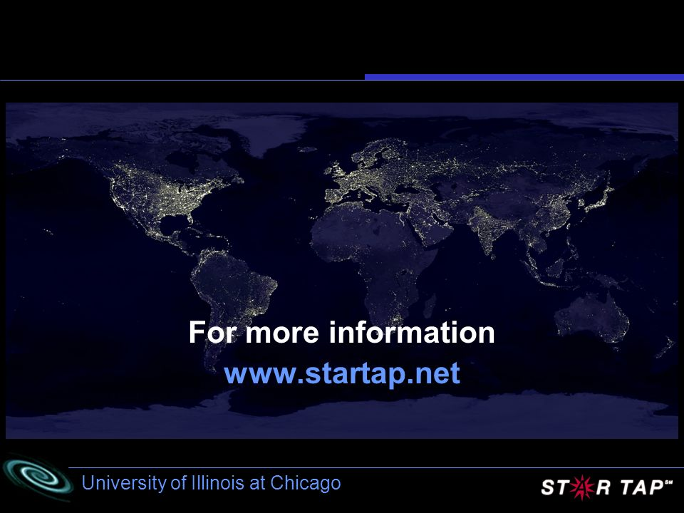 University of Illinois at Chicago For more information www.startap.net