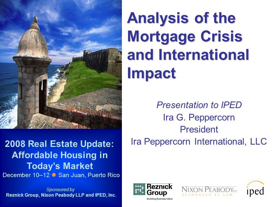 Presentation to IPED Ira G.