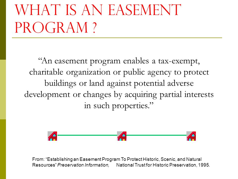 HISTORIC Preservation Easements Michigan Historic Preservation Network May 29,2008