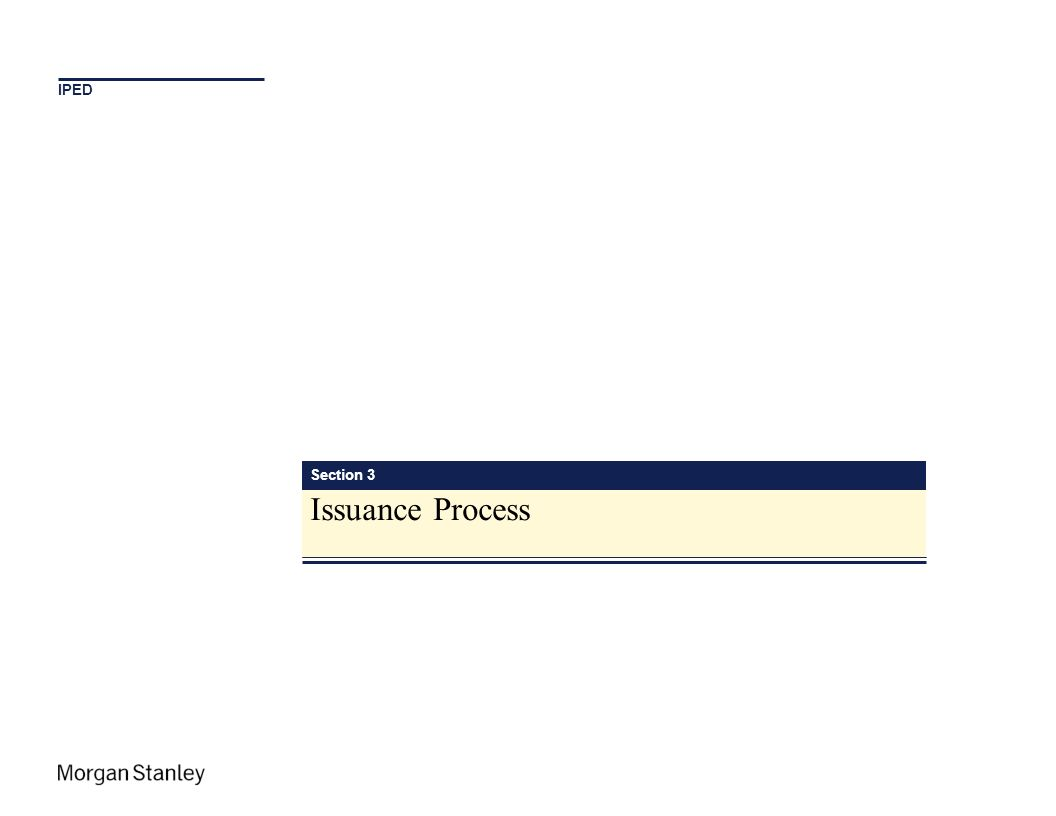 Section 3 Issuance Process IPED