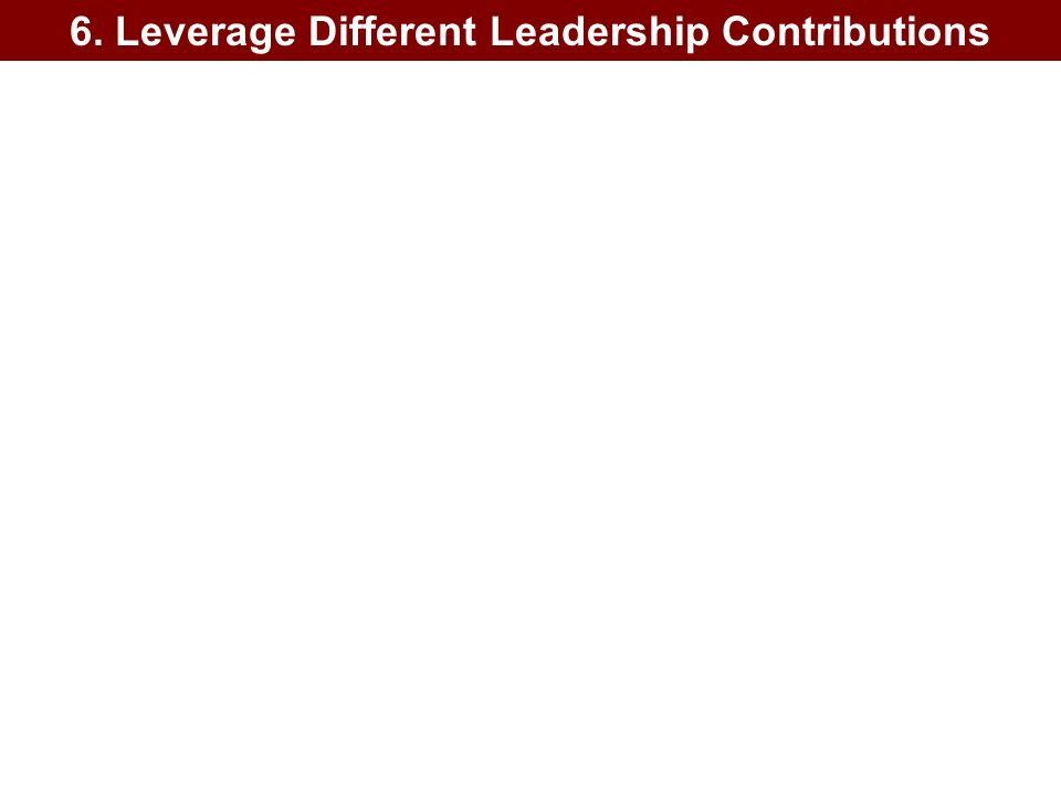 6. Leverage Different Leadership Contributions