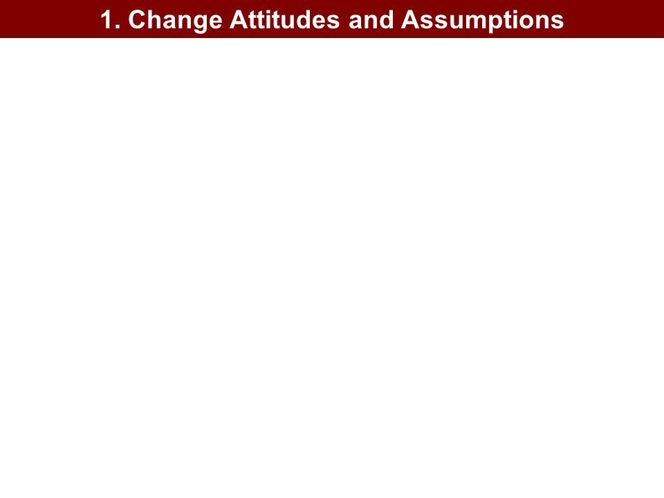 1. Change Attitudes and Assumptions