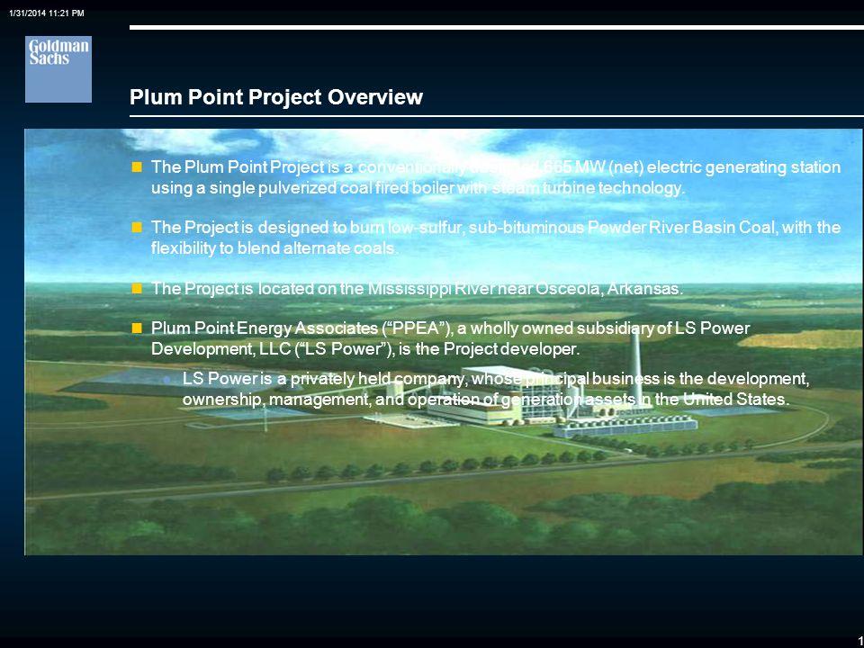 0 Case Study: Plum Point Energy Project Financing a Public Power Minority Investment in a Developer Sponsored Merchant Coal Plant Edward P. Meyers Gol