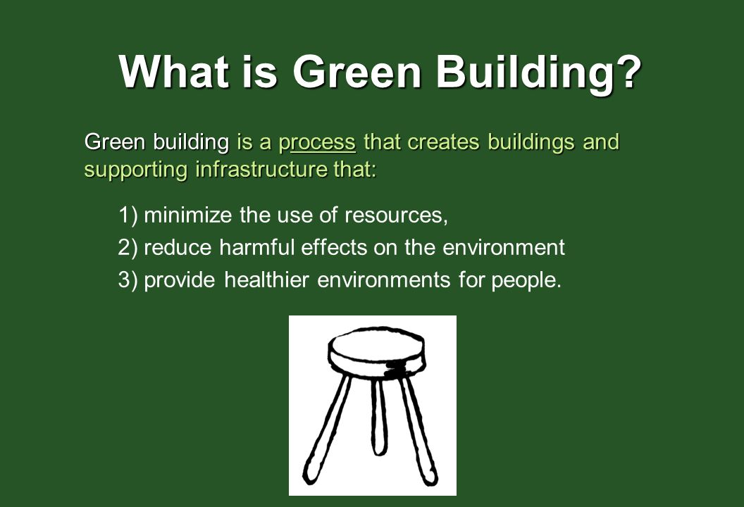 GREEN BUILDING COMPONENTS SITE: site selection, bike storage, building orientation, landscaping, stormwater management, construction recycling.