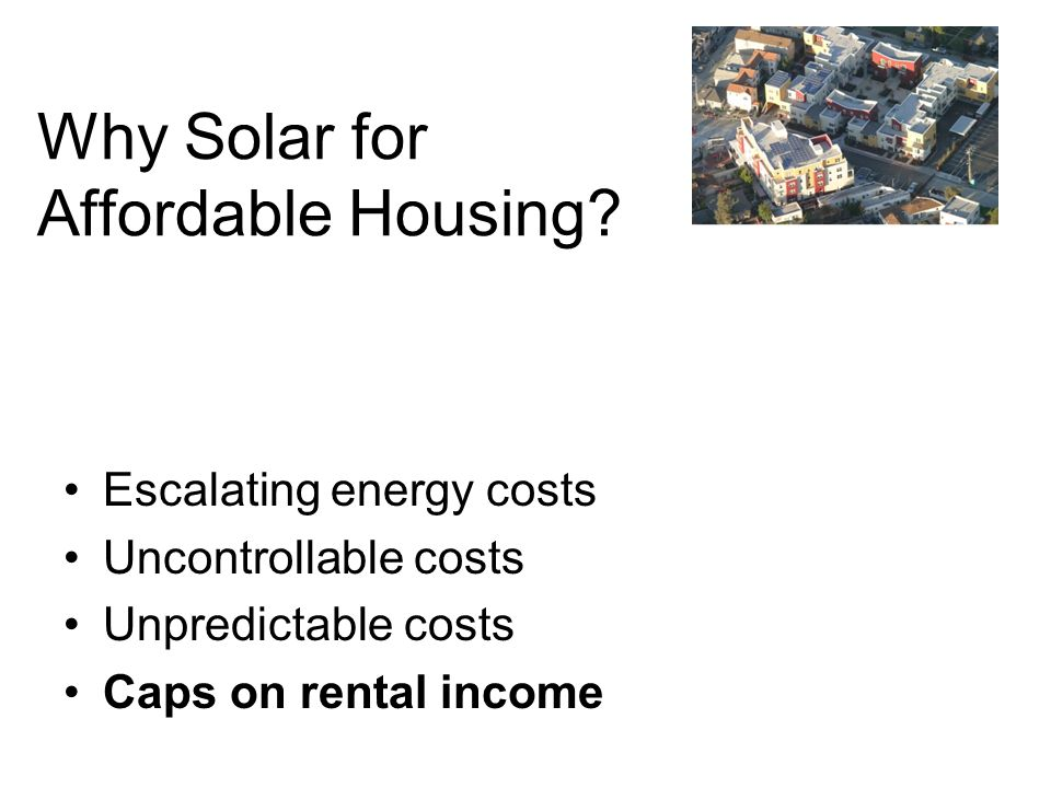 Why Solar for Affordable Housing.