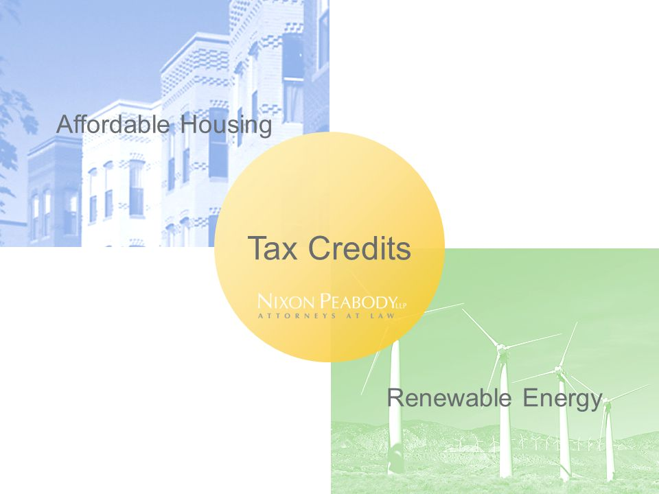 Affordable Housing Renewable Energy Tax Credits