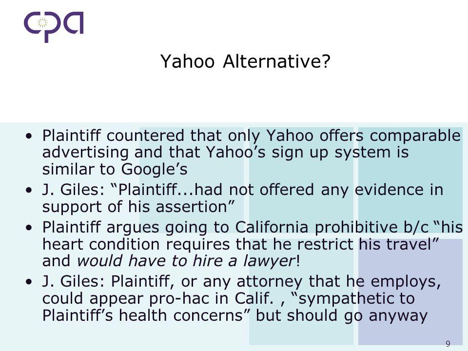 9 Yahoo Alternative.