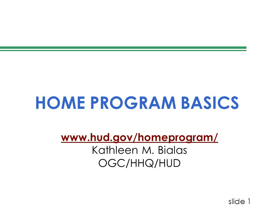 slide 32 24 CFR 92.600 ADDI American Dream Downpayment Initiative Initially funded in 2003 Piggy-backed on HOME PJs that have population of 150,000 or qualify for $50,000 under the formula are eligible to receive ADDI
