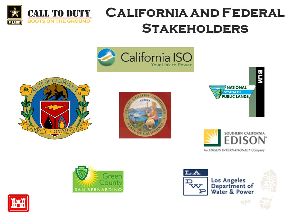 California and Federal Stakeholders