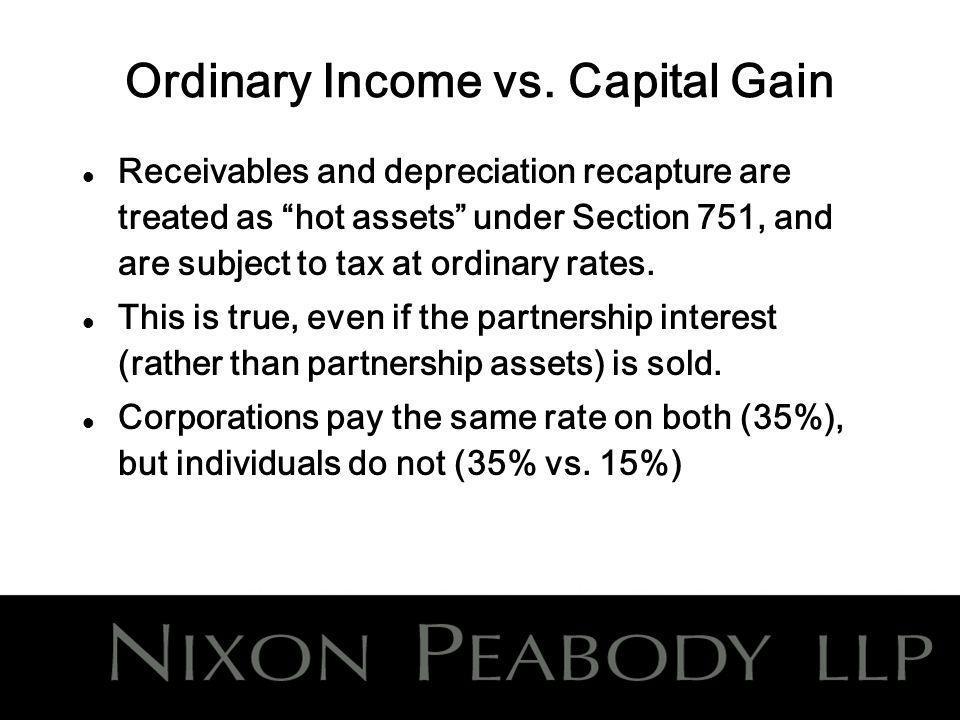 Ordinary Income vs.