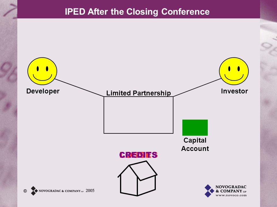 IPED After the Closing Conference DeveloperInvestor Capital Account Limited Partnership 704(b)!!.