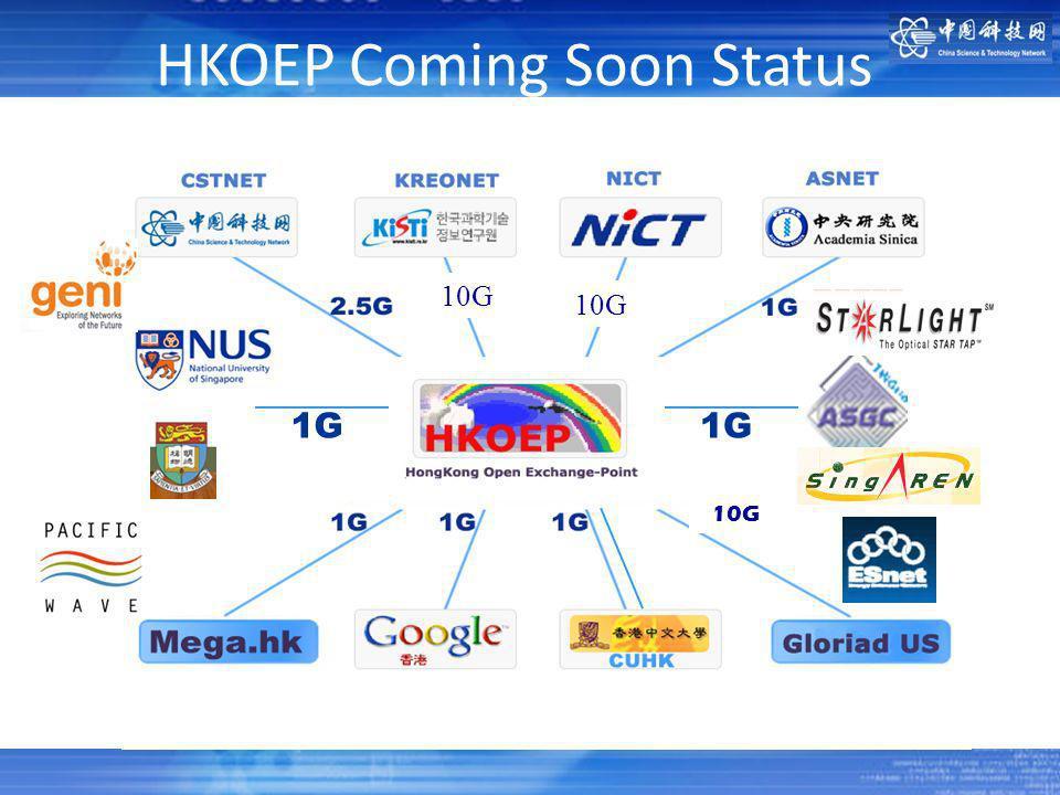 1G 10G 1G 10G HKOEP Coming Soon Status