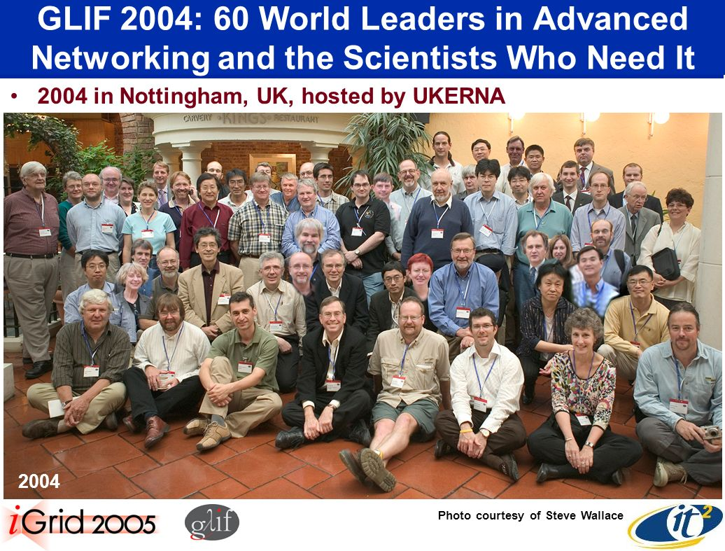 GLIF 2004: 60 World Leaders in Advanced Networking and the Scientists Who Need It 2004 in Nottingham, UK, hosted by UKERNA 2004 Photo courtesy of Steve Wallace