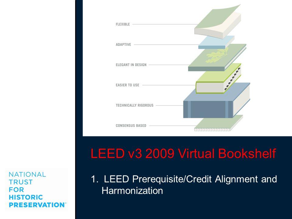 LEED v3 2009 Virtual Bookshelf 1. LEED Prerequisite/Credit Alignment and Harmonization