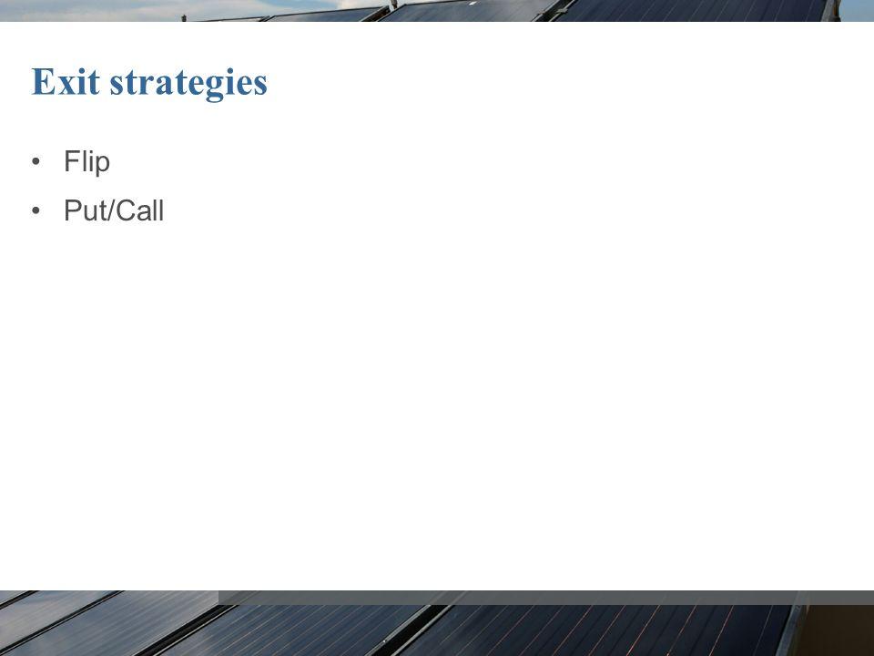 Exit strategies Flip Put/Call