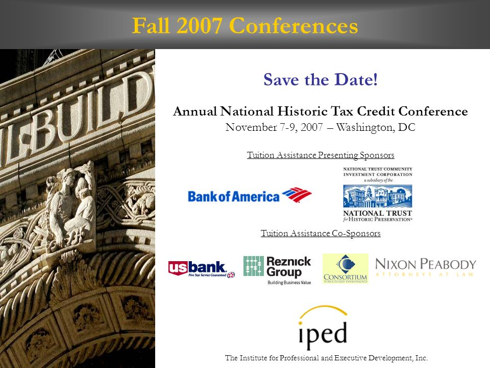 Fall 2007 Conferences Save the Date.