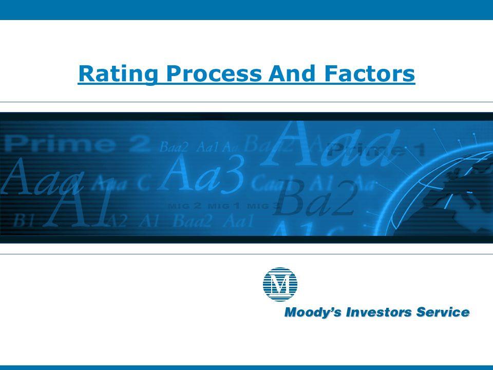 Rating Process And Factors