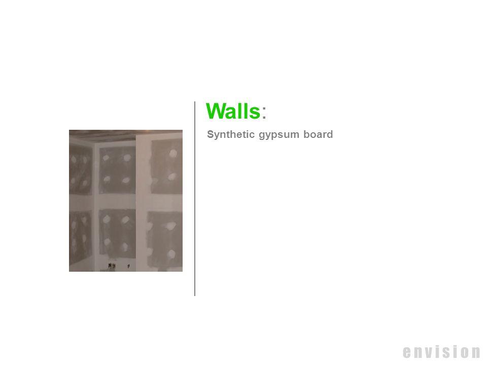 e n v i s i o n Walls: Synthetic gypsum board