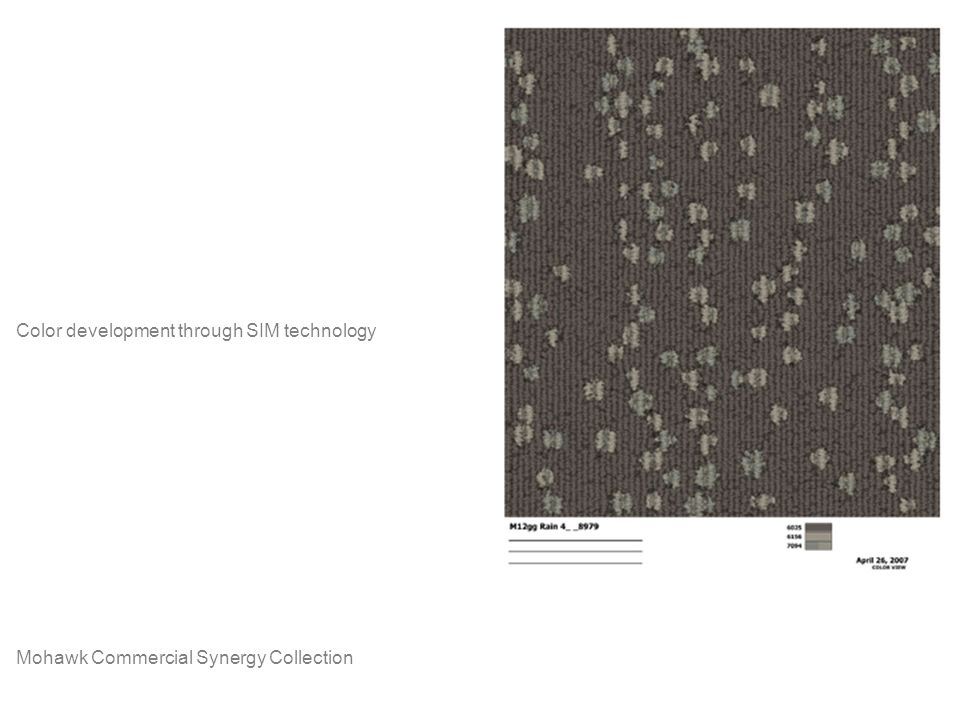 Mohawk Commercial Synergy Collection Color development through SIM technology